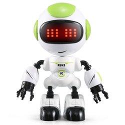 R8/r9 rc jjr/c robô toque sensing led olhos voz inteligente diy gesto liga corpo mini robô modelo de brinquedo presente para crianças