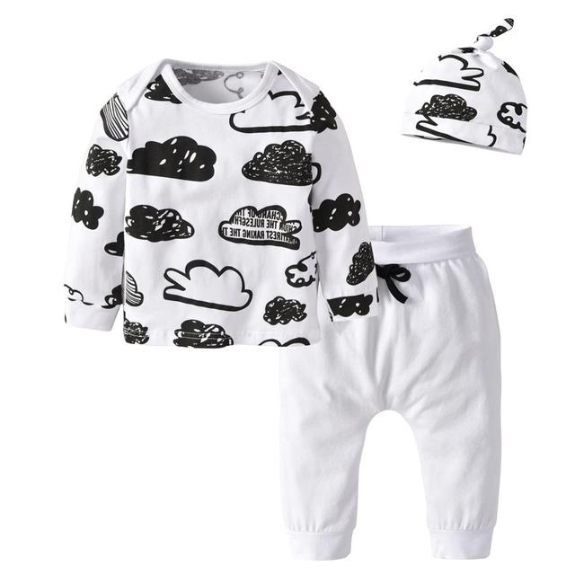 Baby's Printed Sweatshir, Pants and Beanie 3 Pcs Set 3