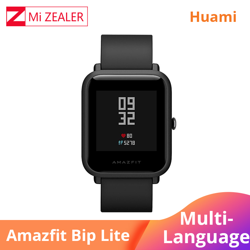 In Stock Xiaomi Huami English Version Smart Watch Men <font><b>Amazfit</b></font> Bip <font><b>Lite</b></font> 45-Day Battery Life 3ATM Water-resistance New 2019 Xiomi image