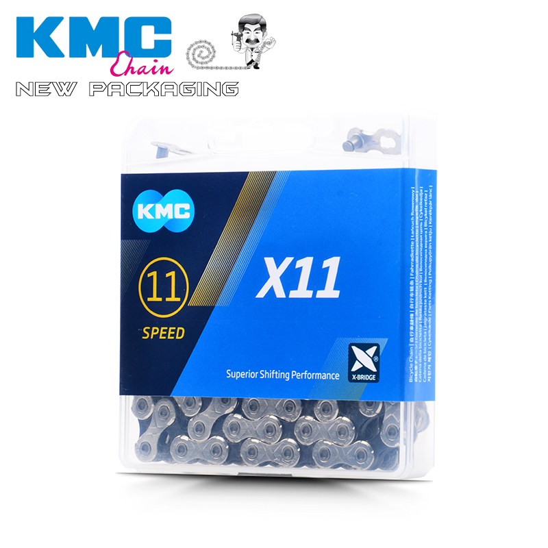 KMC X11.93 X11 Fahrradkette 116L Fahrradkette 11Geschwindigkeit mit Original box und Magischen Knopf pelz Berg/Stange Fahrrad te
