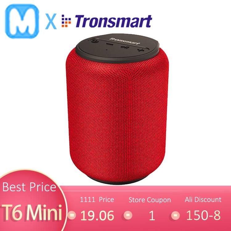 Оригинальный Tronsmart T6 мини беспроводной Bluetooth динамик открытый с низким шагом портативный эхолот IPX6 TWS 560g с голосовым ассистентом Портативные колонки      АлиЭкспресс