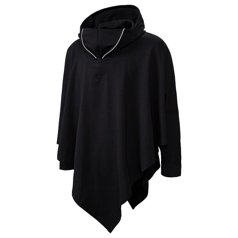 Unisex Casual Hooded Poncho Cape Cloak Fashion Coat Hoodie Sweatshirt Men Hip Hop Streetwear Hoody Pullover For Male Sweat Homme