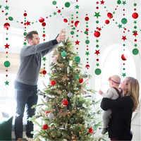 4M estrella brillante papel para crear copos de nieve guirnaldas colgantes adornos navideños para el hogar Año Nuevo 2020 Noel decoración Navidad 2019