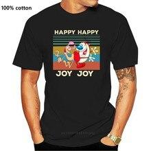 Ren ve Stimpy mutlu mutlu sevinç sevinç Vintage gömlek büyük boy tişört