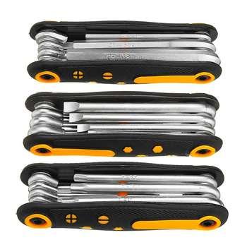 8 w 1 składany klucz sześciokątny klucz imbusowy zestaw wewnętrzna sześciokątne Spanner Plum klucz sześciokątny śrubokręt zestaw narzędzi ręcznych tanie i dobre opinie DANIU CN (pochodzenie) Other Wielofunkcyjny Folding Wrench