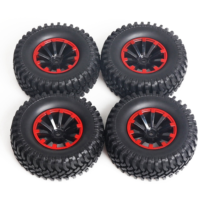 4Pcs 120Mm 1.9 Inch Rubber Rocks Tyres / Wheel Tires For 1:10 Rc Rock Crawler Axial Scx10 90047 D90 D110 Tf2 Traxxas Trx-4