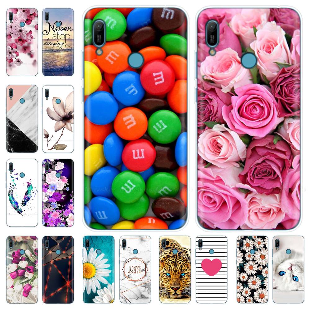 for <font><b>Huawei</b></font> <font><b>Y6</b></font> <font><b>2019</b></font> Case Cover Soft Silicone Cute TPU Back Cover For <font><b>Fundas</b></font> <font><b>Huawei</b></font> <font><b>Y6</b></font> <font><b>2019</b></font> MRD-LX1 MRD-LX1F Y6Prime Phone Case image