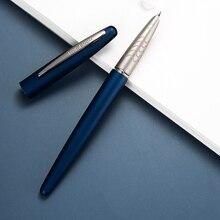 HongDian 617 чернилами полный металлическим зажимом ручки из нержавеющей стали красный черный классический эф ручка перо офис школы подарок коробка