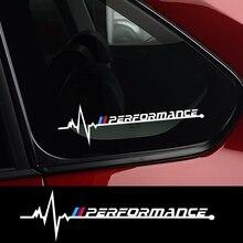 Автомобильный Стайлинг, боковое окно, виниловая декоративная наклейка, эмблема M Performance, креативная наклейка для BMW M F31 F34 F32 E52 E53 E60 E90 E91