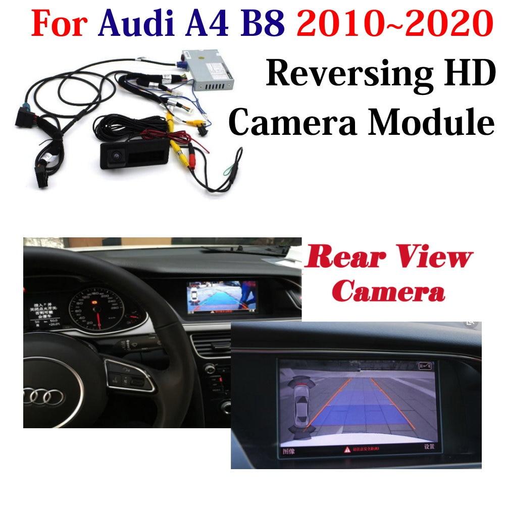 Автомобильная камера заднего вида для Audi A4 B8 B9 2010-2019 2020 MMI HD парковочная камера заднего вида оригинальный экран декодер аксессуары