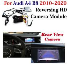 Câmera de visão traseira do carro reversa para audi a4 b8 b9 2010-2019 2020 mmi hd estacionamento backup cam tela original decodificador acessórios