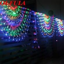 Светодиодный фонарь oufula с павлином гирлянда на Рождество