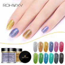 ROHXWY Dipping Powders Long Lasting Nail Glitter Gradient Shining Decoration Without Lamp Cure Art DIY Tool