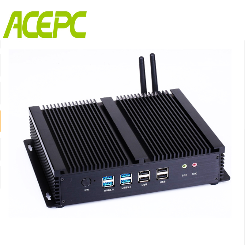 Mini PC Computer Intel Core I7 4500U I5 4200U Windows Industrial Fanless  Linux Dual Gigabit Ethernet 6*RS232 USB3.0 Dual HDMI