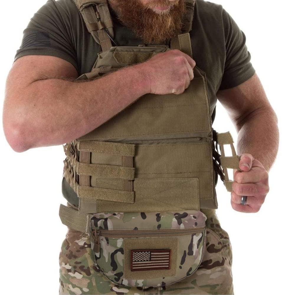 Tactical Dump Drop Pouch, Armor Carrier Drop Pouch Hunting EDC Utility Bag Combat Gear  For AVS JPC CPC AVS Tactical Vest