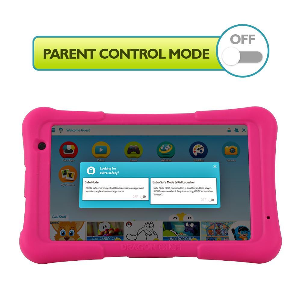 2019 Dragon Touch Y80 детский планшет 8 дюймов HD Дисплей Android планшет для детей 16 Гб четырехъядерный 1,5 ГГц USB Android 8,1 планшетный ПК