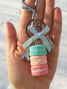 Key-Chain Jewelry Pastries Charm Cake Wedding-Party-Gift French Women Fashion Cute 17278