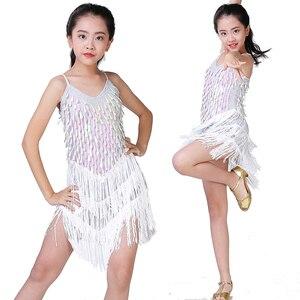 Image 4 - Children Latin Dance Dress Girls Ballroom Dance Competition Dresses kids Salsa /Tango / Cha Cha Rumba Stage Performance Outfits