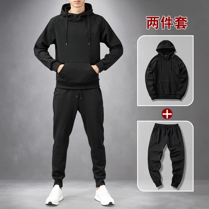 Men Sweatsuits Set Fall And Winter Polo Sweat Suit Men Tracksuit Cotton Thicken Warm Men's Hoodie And Sweatpants Plus Size