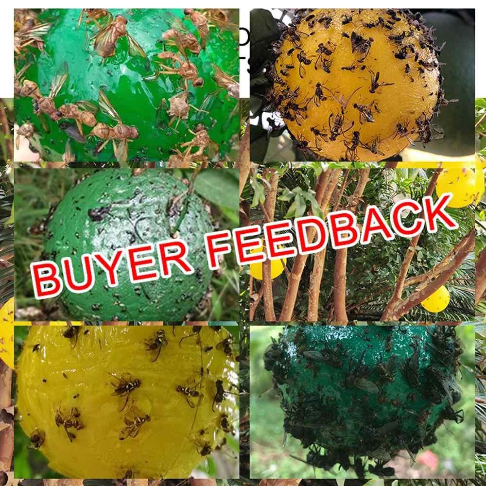 Opknoping Fly Trap Bal Fruit Fly Catcher Kleverige Val Fly Outdoor Wegwerp Wesp Bee Geel Jas Yellowjacket