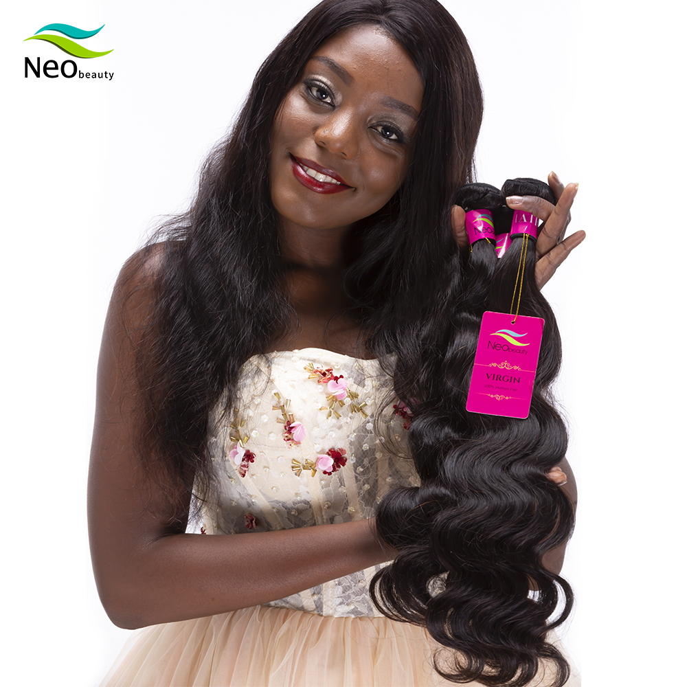 Neobeauty 100% Unprocessed Virgin Human <font><b>Hair</b></font> Burmese <font><b>Hair</b></font> Body Wave Bundles Virgin <font><b>Hair</b></font> Extensions Cheap Price with <font><b>10A</b></font> <font><b>Grade</b></font> image