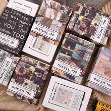100 pçs/caixa temas de livro colagem material cartão de papel fazendo lixo jornal planejador scrapbooking vintage decorativo diy artesanato papel