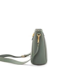 Image 4 - 2020 Sweet Style Candy Color Women Shoulder Bag Split Leather Crossbody Bag Fashion Designer Laides Messenger Bag for Girls
