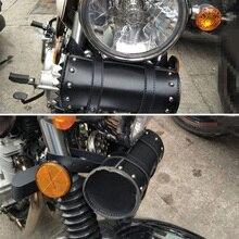 1* Универсальные мотоциклетные седельные сумки кожаная боковая сумка для инструментов багаж 21 × 10 × 10 см
