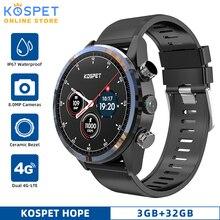 """KOSPET HOPE 3GB 32GB Android inteligentny zegarek mężczyźni 8.0MP aparat 1.39 """"WIFI IP67 wodoodporny 4G GPS smartwatch z funkcją telefonu dla IOS Android"""