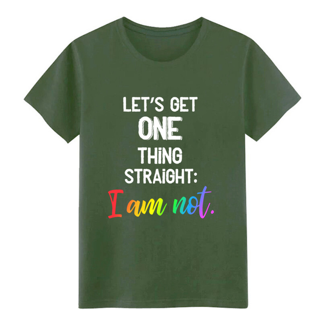 One thing straight rainbow lgbt pride t shirt 남성 코튼 S-XXXL 디자인 cool Crazy Breathable Summer Style shirt