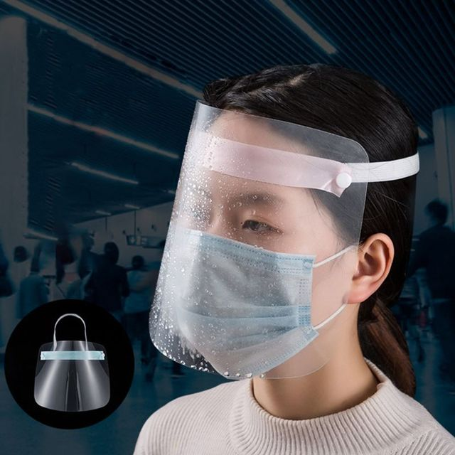 All-Purpose Face Shield Head-Mounted Plastic Transparent Anti-saliva Anti-spitting Anti-fume Protective Mask 4