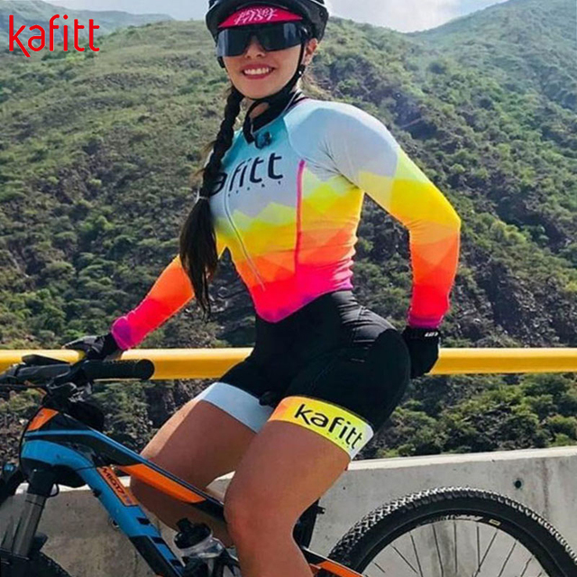Kafitt triathlon ciclismo jérsei terno senhoras ciclismo sexy apertado fina de manga curta correndo maiô macaquinho feminino 6