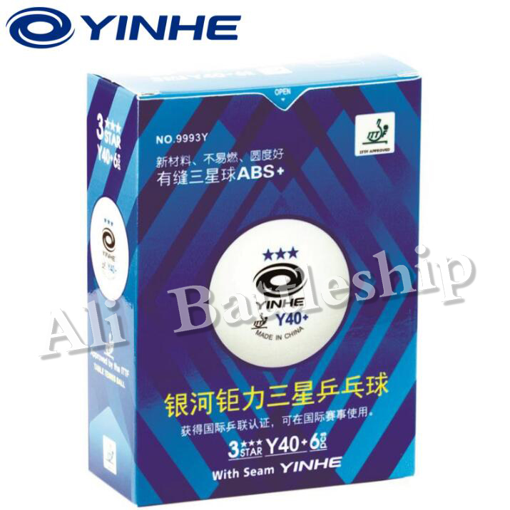 ITTF Apprved YINHE 3 Star Y40+ <font><b>ABS</b></font> PRO Seamed PP <font><b>Ball</b></font> Table Tennis <font><b>ball</b></font> / ping pong <font><b>ball</b></font> 1 box image