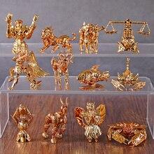 Saint Seiya זהב גלגל המזלות סדרת מיני שולחן עבודה דמויות PVC צלמית Brinquedo צעצועי 12 יח\סט