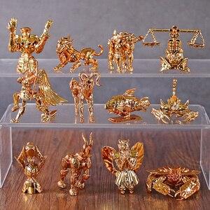 Image 1 - Saint Seiya figuras para escritorio del zodiaco dorado, Mini figuras para escritorio, juguetes Brinquedo, 12 unidades
