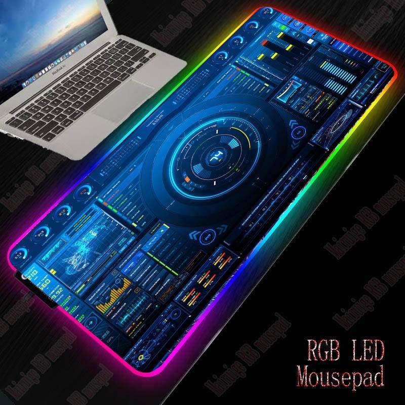 XGZ Dj Controller Gaming RGB Large Mouse Pad Gamer Big Mouse Mat Computer Mousepad Led Backlight XXL Mause Pad Keyboard Desk Mat 1