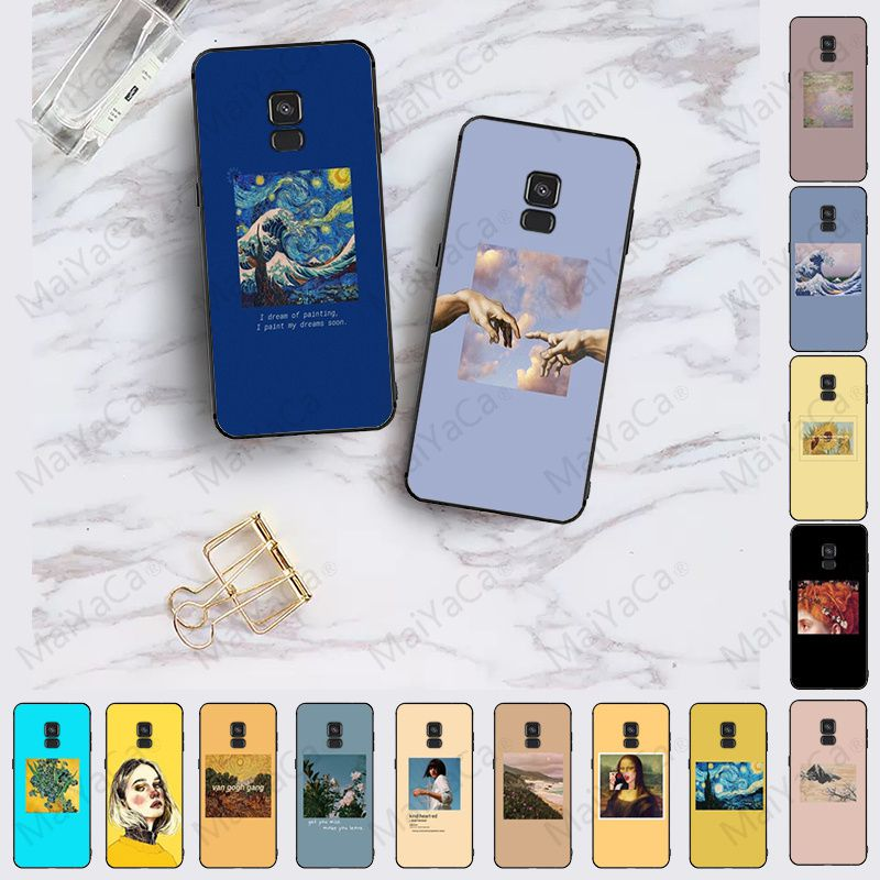 Van Gogh Art Oil Painting Colorful Cute Phone Accessories Case For samsung Galaxy A10 A8 A6 A7 A9 A30 A50 A70 COVER Mobile Cover