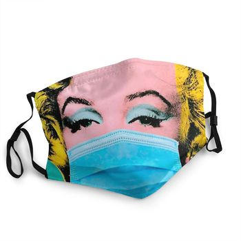 Marilyn Monroe Puts Her Mask On Men Women Non-Disposable Mouth Face Mask Dust Protection Cover Respirator