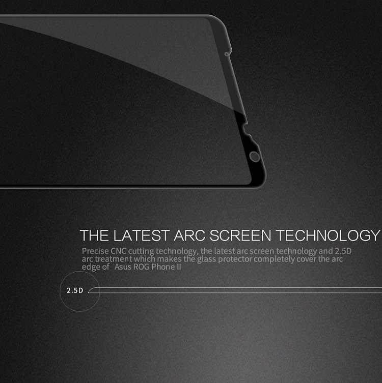 עבור Asus Rog טלפון 2 זכוכית מלא כיסוי Nillkin CP + פרו 9H 0.33mm 2.5D מעוקל מסך מגן עבור Asus Rog טלפון 2 מזג זכוכית
