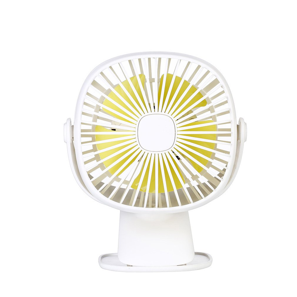 Creative Personality Multi-function Square Box 360 Degree Rotating Usb Night Light Charging Clip Fan Summer Portable Small Fan