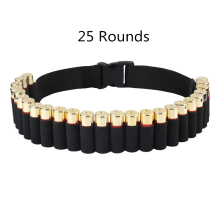 Hunting Belt 25/29/50 Rounds 12/20 Gauge Shotgun Cartridge Bullet Ammo Tactical Military Airsoft Shell Bandolier