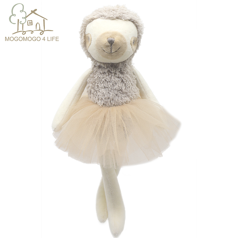 Luxury Ballerina Sloth Doll Princess Sloth Doll Stuffed Animal Baby Doll Birthday Gift Fashion Plush Toy Pillow Decorative Toys