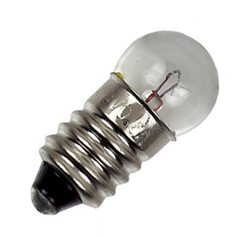 100PCS E10 Bulb Light, G11 Screw Base Flashlight Bulb Lamps  3.5V 0.2A
