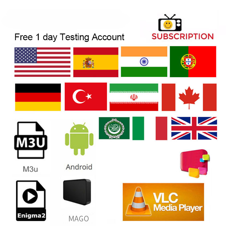 Hd Subscription Russia Arabic Canada USA Italy Turkey America India Latin Premium Subs Account Fast Delivery One Day Test M3U