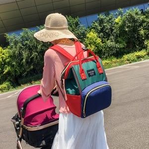 Image 4 - Hohe Qualität Große Kapazität Windel Tasche Multifunktions Baby Schlafsäcke Mutterschaft Paket Mutter Reise Rucksäcke Mutterschaft Nette