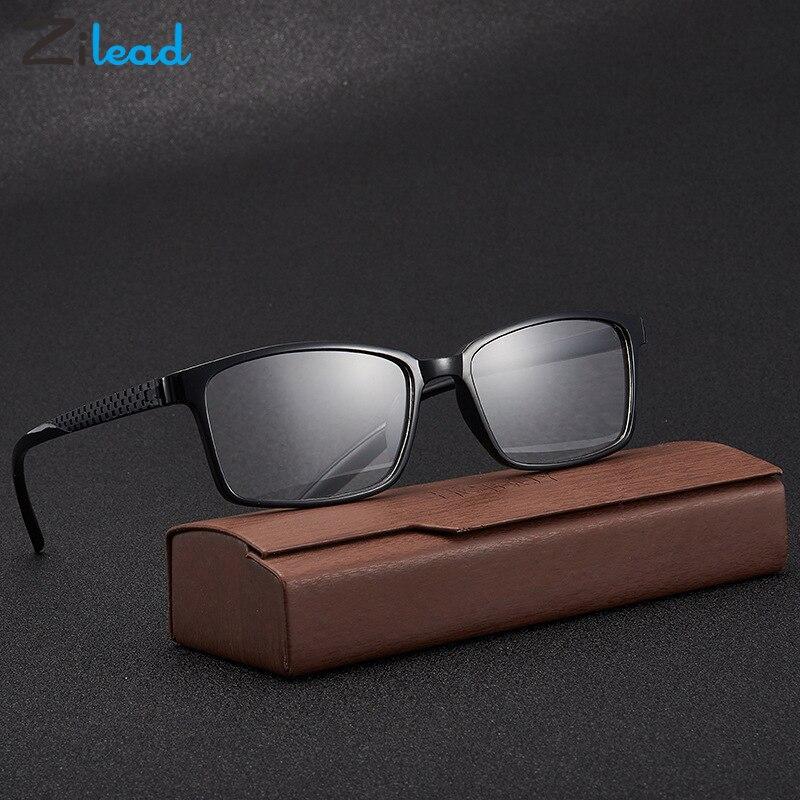 Zilead, маленькие квадратные очки для чтения, для отдыха, сверхлегкая мягкая оправа, смола, линзы высокой четкости, классический стиль, пресбио...