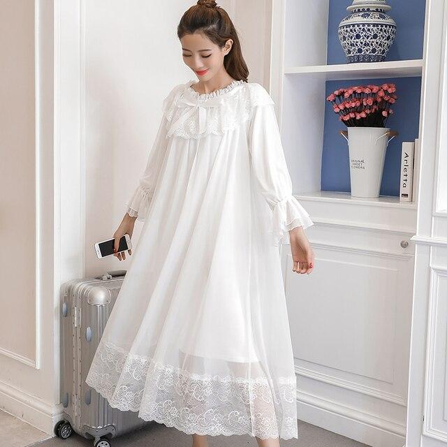 Princess Maternity White Night Dress 3