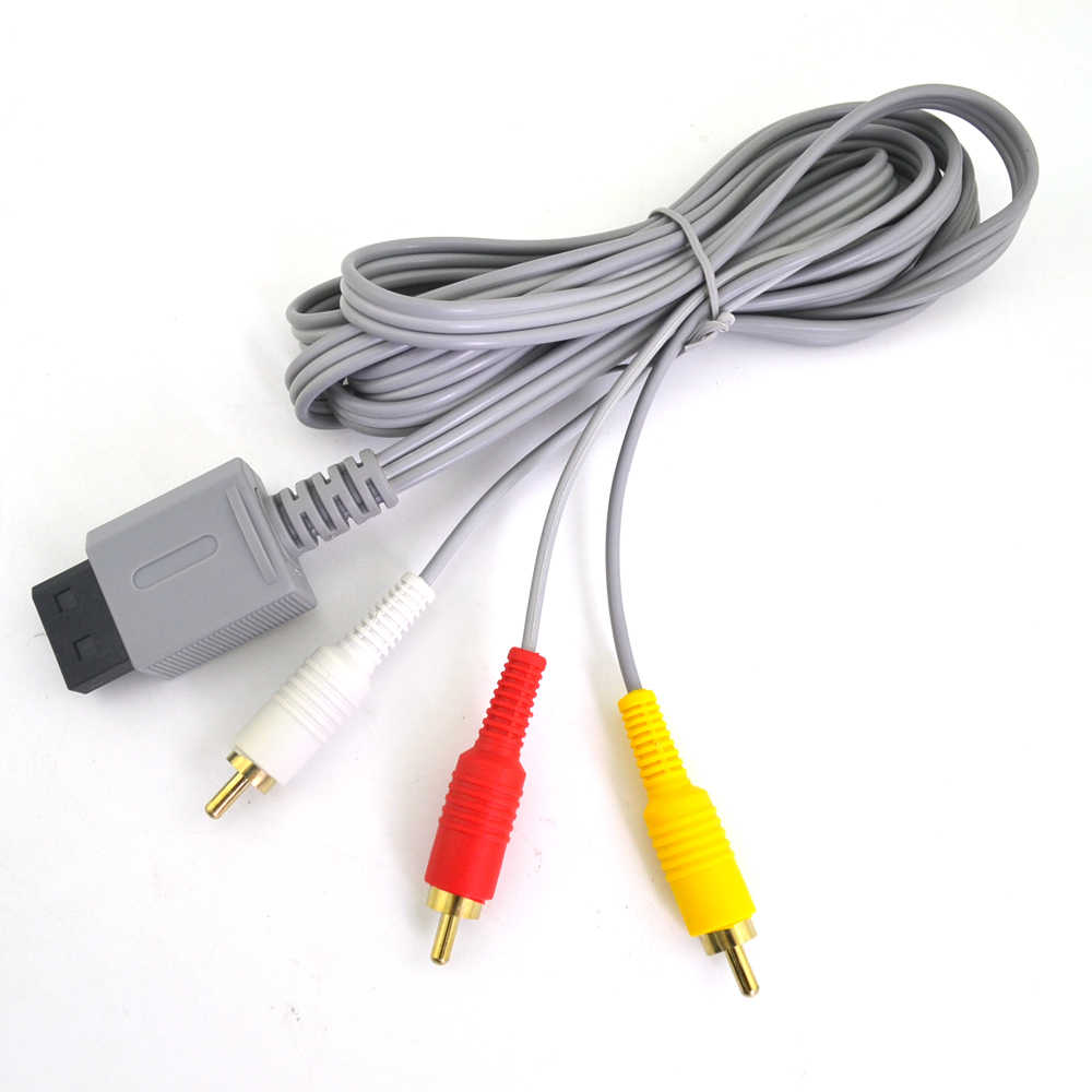 1.8m สาย Component Audio Video AV COMPOSITE 3 RCA CABLE 480 P สำหรับคอนโซล Wii