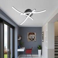 Artpad Modern Ceiling Light Fixture Forked Shaped Kitchen Bedroom Corridor Aisle Lights Curve Design Ceiling Lamp AC85 265V