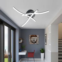 Artpad Modern Ceiling Light Fixture Forked Shaped Kitchen Bedroom Corridor Aisle Lights Curve Design Ceiling Lamp AC85 265V
